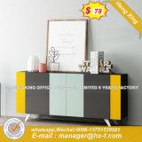 Whire PVC落書きの縦のファイルの食器棚(HX-8ND9433)
