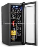 refroidisseur de vin thermoélectrique incurvé par 12bottles de modèle de porte