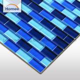 Mosaico di vetro delle mattonelle della piscina delle mattonelle di colore blu lucido all'ingrosso dell'OEM