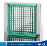 Vert/effacer le bloc de verre à motifs parallèle/Brique de verre pour la décoration (G-B)
