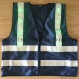 Gilet r3fléchissant tricoté de tissu avec led verte