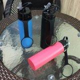 Силиконовый спорта бутылка воды, для использования вне помещений силикона складная BPA бесплатно бутылка воды