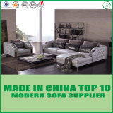 Sofa sectionnel de salle de séjour de Furniuture de cuir européen de luxe de bobinoir sur cône