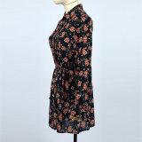 Lange Hülsen-Knöchel-Längen-hohe niedrige Rüsche-beiläufiges Kleid