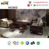 Il sofà italiano del cuoio genuino ha impostato per mobilia domestica (HCS05)