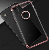 Crystal CLEAR transparency flexible one softly TPU Cover with Electroplating Button