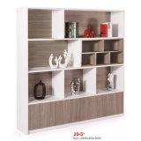 Gabinete de armazenamento de madeira branco da gaveta de arquivo da parede