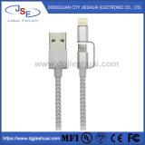2 en 1 La foudre et le câble micro USB nylon tressé câble de synchronisation et chargement pour iPhone/téléphone Android