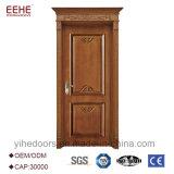 Puerta de madera sólida del diseño clásico de China