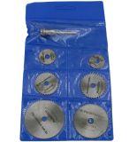 Rueda de disco de sierra de HSS Cuchillas con mandriles para Dremel Fordom brocas Herramientas Rotativas
