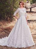 Амели скалистых 2018 с кружевом линию свадебные платья