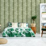 2017 Vente chaude Fleur de papier peint en PVC mur damassé Papier pour salle de séjour