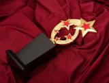 メダルによってカスタマイズされる金属のトロフィの卒業の記念品に名誉を与えさせる創造的なレタリングにカスタム水晶トロフィのコップ