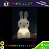 Lampe de table de lapin à lampe