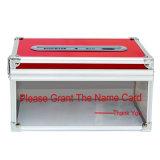 Chiusura del supporto a chiave da tavolino della casella di scheda di nome di affari per l'accumulazione della scheda