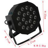 Disco de alta potencia de luz par 3W de luz PAR LED de 18 uds.