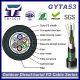 Double gaine PE&double câble blindé GYTA53 Câble à fibre optique