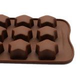 Molde material del silicón de la categoría alimenticia del certificado del nuevo producto FDA, molde formado Stra de /Chocolate del molde del pudín del silicón 3D