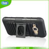سوداء يستعصي بلاستيكيّة سليكوون درع قراب مسدّس حالة [كمبو] لأنّ [سمسونغ] [ج1] مصغّرة