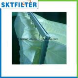 Bolso de filtro medio del poliester del aire del filtro del bolsillo de la eficacia