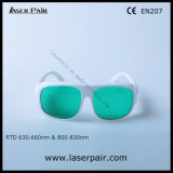 Защитные стекла для красного цвета, Ce лазера O. 830nm D5+ Rtd 630 - 660nm O.D3+ & 800 - En207 встречи лазеров диода