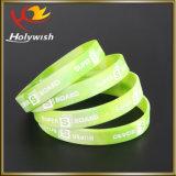 Wristband fresco del silicón de la pulsera de encargo respetuosa del medio ambiente de Debossed
