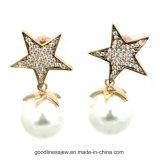 Eardrop della perla con gli accessori di modo bianchi di 3A CZ (E6331)