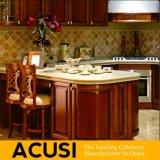 Muebles al por mayor de la cocina del gabinete de cocina de la madera del armario del estilo de la antigüedad U (ACS2-W21)