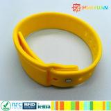 Tragbarer eingeschobener intelligenter Zahlungs-SilikonRFID Wristband der Marken-NFC NTAG213