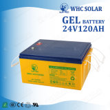 batteria ricaricabile del sistema solare UPS del gel di energia solare di 24V 120ah