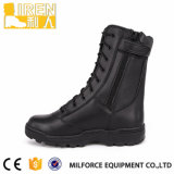 Schwarze volle echtes Leder-Polizei-Sicherheits-Schuhe