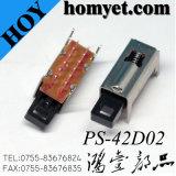 interruptor de tecla do interruptor de restauração de 4p2t 0.3A (PS-42D02)
