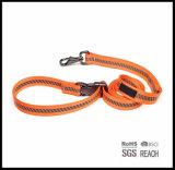 Camoプリントトラフィックの調節可能なハンドルが付いている反射飼い犬の鎖