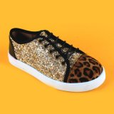 Chaussures de gosses d'espadrilles de scintillement d'or de filles pour le shopping en ligne de filles