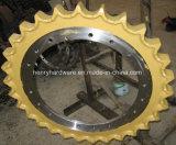 Roda dentada da movimentação, roda dentada da movimentação da máquina escavadora, roda dentada da máquina escavadora