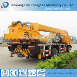 Caminhão móvel do crescimento hidráulico dourado do guindaste da manufatura com guindaste 10 toneladas para a venda