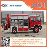 消火活動の収容車のトラックはクレーンおよび監視カメラをインストールする