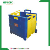 Plastic Foldable Folding camera Shopping Cart Trolley