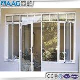 Doppelte glasig-glänzende Flügelfenster-Aluminium-außentür