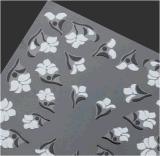 Autocollant noir à la mode en noir et blanc à fleur noire