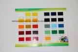 Carte de couleur de papier imprimé personnalisée
