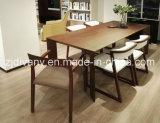 Cadeira de madeira em estilo americano sala de jantar cadeira de couro (C-56)