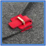 Saco personalizado da pasta do portátil de feltro de lãs, luva do portátil da forma do envelope da promoção com Closing da curvatura (o índice de lãs é 70%)