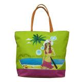 Sac d'emballage se pliant de plage d'été de polyester avec la garniture