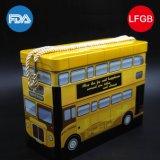 Lata de lata em forma de ônibus / lata de metal para crianças (C005-V15)