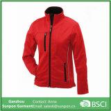 Hot Sale Mulheres vermelhas vestidas com revestimento exterior Softshell Jacket