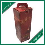 De enige Dozen van de Wijn van de Gift van de Fles van het Glas Verpakkende