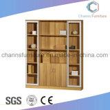 Деревянный шкаф архива офисной мебели с стеклянными дверями