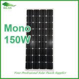 mono comitato solare 150W con TUV e l'iso del Ce certificati