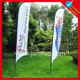 Banderole de drapeau de plage de polyester à l'environnement